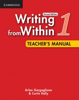 Writing from Within Level 1 Teacher´s Manual