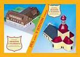 Dvojmodel Poutní kostel + Poutní hotel Křemešník