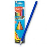 Pastelky Maped Color Peps - 12 barev + ořezávátko