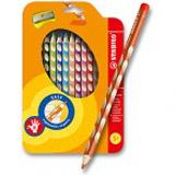 Pastelky Stabilo EASYcolors - 12 barev + ořezávátko, pro praváky