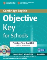 Objective Key 2nd Edition For Schools Practice Test Booklet with answers with Audio CD