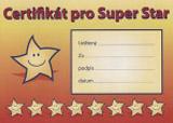 Certifikát Super Star A5 v češtině