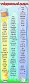 Vyjmenovaná slova (záložka)