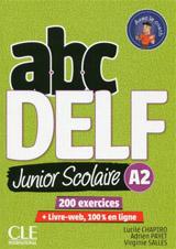 ABC DELF Junior scolaire A2 Livre + DVD + Livre-web - 2ème édition