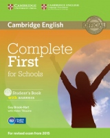 Complete First for Schools Student´s Book with Answers with CD-ROM