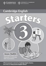 Cambridge Young Learners English Tests, 2nd Ed. Starters 3 Answer Booklet
