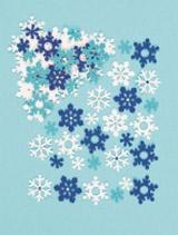 Plstěné samolepky – sněhové vločky (78 ks)