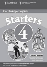 Cambridge Young Learners English Tests, 2nd Ed. Starters 4 Answer Booklet