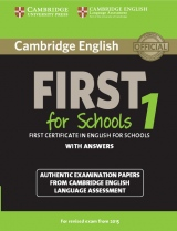 Cambridge English: First (FCE) for Schools 1 (2015 Exam) Student´s Book with Answers