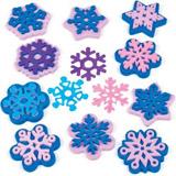 Pěnová razítka sněhové vločky (10 ks) AX405