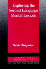 Exploring the Second Language Mental Lexicon PB