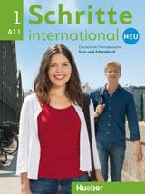 Schritte international Neu 1 Kursbuch + Arbeitsbuch mit Audio-CD