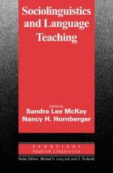Sociolinguistics and Language Teaching PB