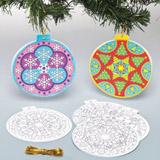 Přáníčko vánoční koule mandala