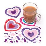 Sada k výrobě mozaikového tácku srdce (6ks)