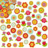 Pěnové samolepky květiny (144ks)