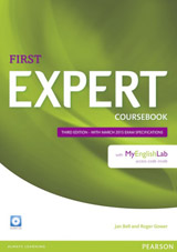 Expert First 3rd Edition Coursebook with Audio CD & MyEnglishLab