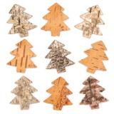 Vánoční stromky z kůry (30 kusů) - AV886