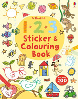 123 sticker and colouring book