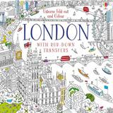 Londýn - rozkládací omalovánky s přenosnými obrázky