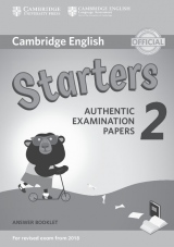 Cambridge English Young Learners 2 for revised exam from 2018 Starters Answer Booklet