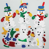 Sada k výrobě dekorace sněhuláci - nové (8ks) AX516