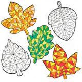 Podzimní dekorace na okno (12ks) AR646