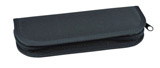 Pouzdro jednobarevné M - 8 gumiček černá antracit
