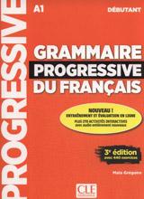 Grammaire progressive du français - Niveau débutant - 3 édition - Livre + CD + Livre-web interactif