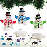 Vánoční ozdoba hvězda - sněhulák (6ks) AX514