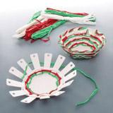 Sada k výrobě vánočního košíčku (4ks)