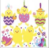 Sada k výrobě dekorace velikonoční kuře (8 ks)
