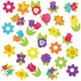 Pěnové samolepky jarní květiny (nové) (120 ks)