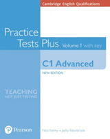 Cambridge English Qualifications: C1 Advanced Volume 1 Practice Tests Plus with key and Online Audio
