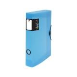 Krabice PP s gumou A4 maxi 45 Opaline Frosty modrá