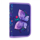 Penál 1 p. s chlopní, naplněný Motýl