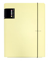 3klopé lamino desky s gumičkou PASTELINI žlutá