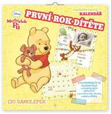 Poznámkový kalendář Medvídek Pú - První rok dítěte, nedatovaný, 30 x 30 cm