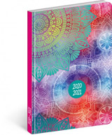 18měsíční diář Petito – Mandala 2020/2021, 11 × 17 cm