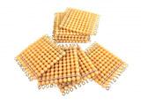 9 zlatých perlových stovkových čtverců