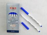 popisovač 7001 fine liner modrý trojhranný