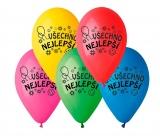 Balónky s potiskem 10ks OBYČ. Všechno nejlepší