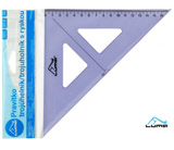 Pravítko trojúhelník s ryskou, modré LUMA