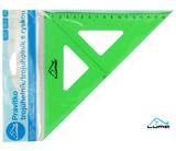 Pravítko trojúhelník s ryskou, zelené LUMA
