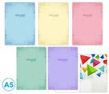 Sešit A5 linka 52l Soft pastel