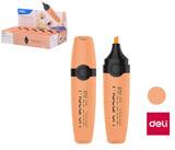 Zvýrazňovač DELI EU356-OR MACARON pastel oranžový