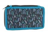 Školní penál dvoupatrový Indian Blue