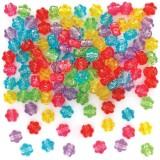 Korálky lesklé květiny (300ks) AX921