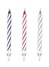 Dortové svíčky 10 ks mix barev blistr