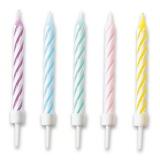 Dortové svíčky 10 ks pastelové mix barev blistr